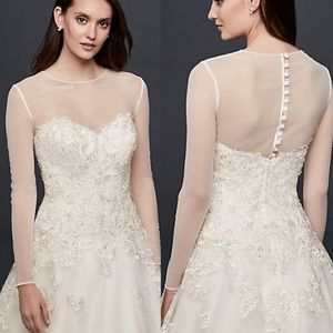 David's Bridal Long Sleeve Wedding Dress Shirt